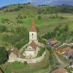 biserica-fortificata-agarbiciu-aerian
